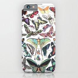 Papillons - Adolphe Millot/Larousse Butterflies iPhone Case