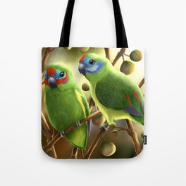 Double-eyed Fig Parrot Tote Bag
