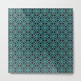 Elegant Aqua Moroccan Geometric Design Metal Print