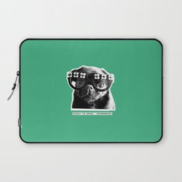PUG SUKI - FLORALS FOR SPRING - MINT GREEN Laptop Sleeve