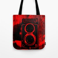 vintage camera Tote Bags featuring Camera by short stories gallery
