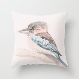 Kookaburra Cuteness Throw Pillow