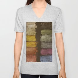 Metallic Watercolor on Black Cardstock Unisex V-Neck