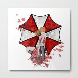 Alice and Umbrella: A Love Story Metal Print