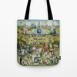 The Garden of Earthly Delights by Hieronymus Bosch (1490-1510) Tote Bag