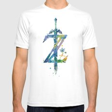 Breath of the Wild LARGE White Mens Fitted Tee