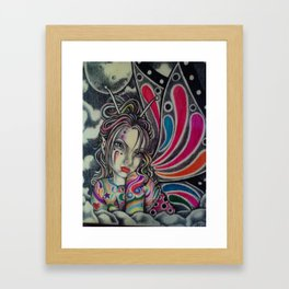 Colorful Rainbow Fairy Framed Art Print