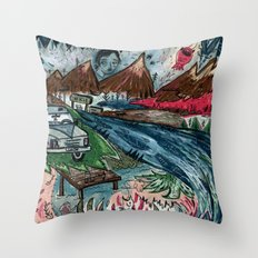 I'd Like To Stay / Someone's Disappearance 2 Throw Pillow
