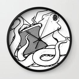 Octopaused (Blank TV) Wall Clock