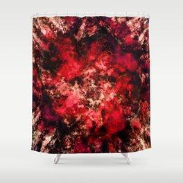 Red burst Shower Curtain