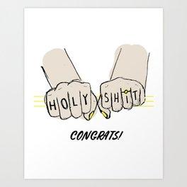 Congrats! Art Print