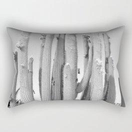monochrome cactus 2 Rectangular Pillow