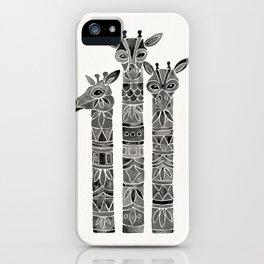 Black Giraffes iPhone Case