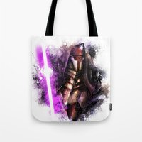 darth Tote Bags featuring Darth Revan by Vincent Vernacatola