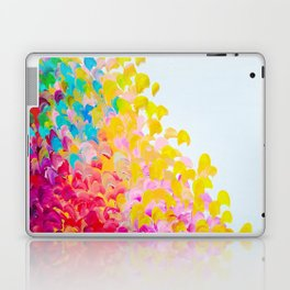 CREATION IN COLOR - Vibrant Bright Bold Colorful Abstract Painting Cheerful Fun Ocean Autumn Waves Laptop & iPad Skin