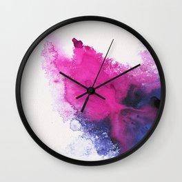 Watercolour splash Wall Clock