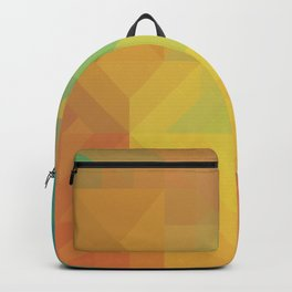 Geometric Pattern // Intricate Detailed Shapes // Gradient Colors (Orange, Yellow, Teal, Green, Red) Backpack