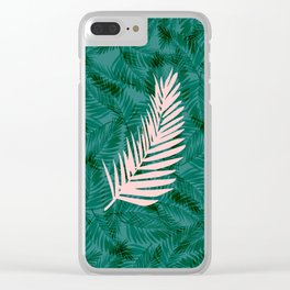 The Pink Fern Clear iPhone Case