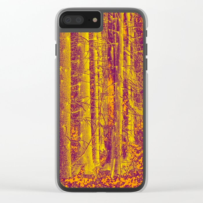 In the middle of the forest #decor #society6 Clear iPhone Case