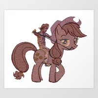 my little pony Art Prints featuring My Little Remington Pony by Ancora Imparo