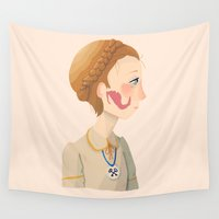 wes anderson Wall Tapestries featuring Agatha by Nan Lawson