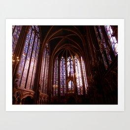 Sainte-Chapelle, Paris Art Print