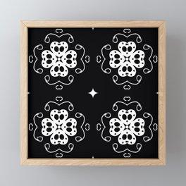 Black and White Patterns Framed Mini Art Print