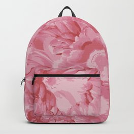 Sandy Pink Flowers Backpack