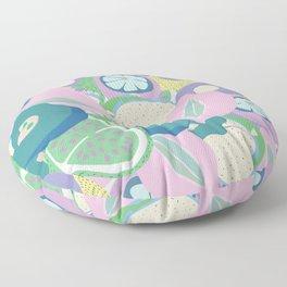 Trippy sangria Floor Pillow
