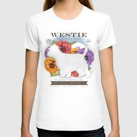 westie T-shirts featuring Westie West Highland Terrier seed company dog art illustration by Stephen Fowler by gemini studio art by Stephen Fowler