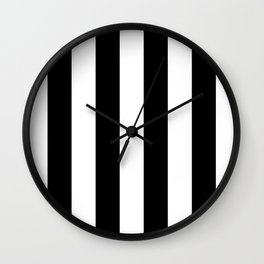 Big Lines Black Wall Clock