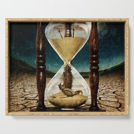 Sands of Time ... Memento Mori Serving Tray
