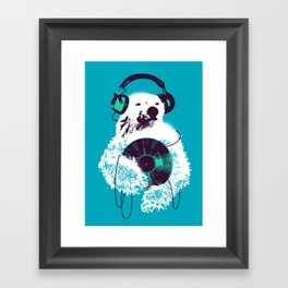 Record Bear Framed Art Print