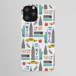 NYC travel pattern fun kids decor boys and girls nursery new york city theme iPhone Case