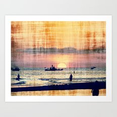and The world was quiet .... Art Print