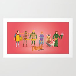 Dungeons and Dragons - Pixel Nostalgia Art Print