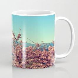 Mountains & Flowers Landscape Coffee Mug