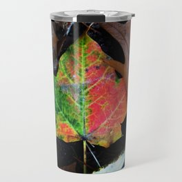 Gradient Autumn Leaf Travel Mug