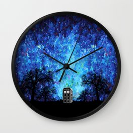 Lonely Tardis Doctor who Art painting iPhone 4 4s 5 5c 6, pillow case, mugs and tshirt Wall Clock