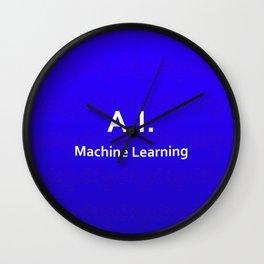 A.I. Machine Learning Wall Clock