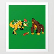 Boss vs Kong Art Print