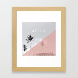 Island vibes - Aloha Framed Art Print