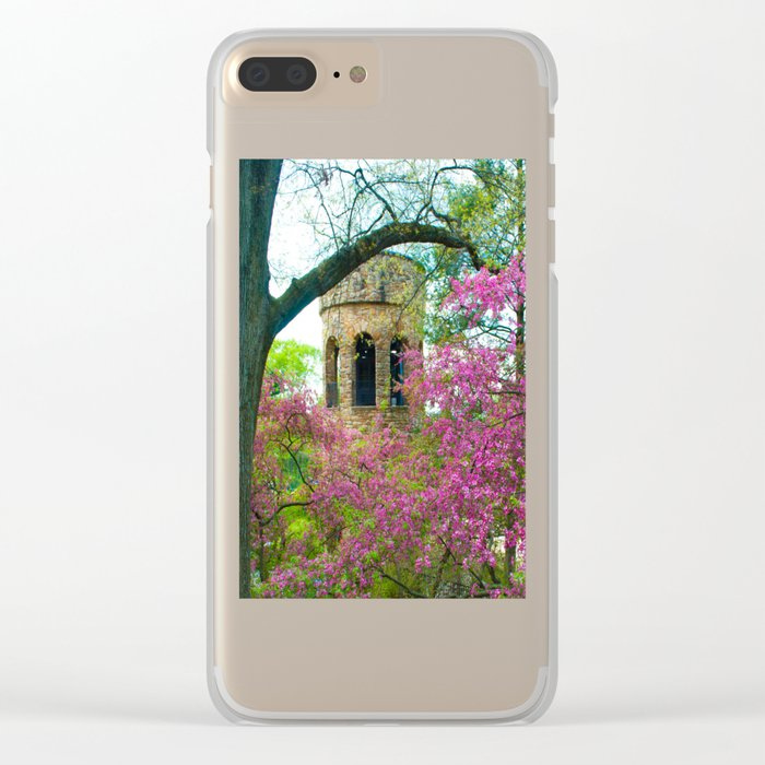 Bell Tower in Spring Clear iPhone Case