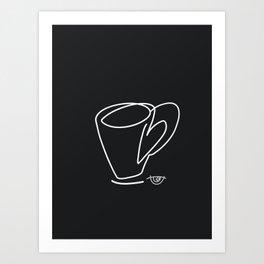 Cuppa Candor [Noir] Art Print