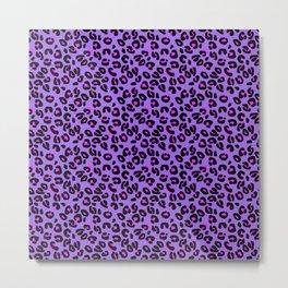 Bright Purple Leopard Spots Animal Print Pattern Metal Print