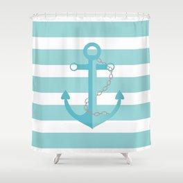 AFE Nautical Aqua Ship Anchor Shower Curtain