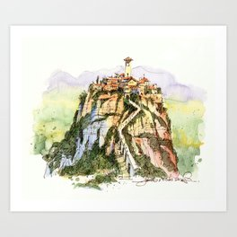 Civita di Bagnoregio, Italy Art Print