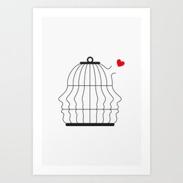 Free the Love Art Print
