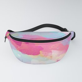 Colorful Abstract - pink and blue pattern Fanny Pack