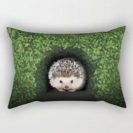Little Hedgehog in the Hedge Rectangular Pillow